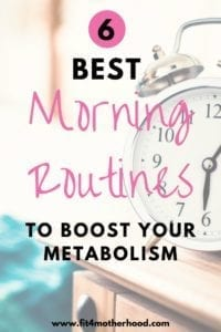 morning habits weight loss boost metabolism